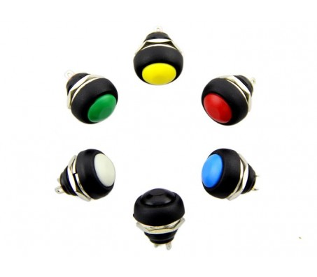 12mm Domed Push Button Pack