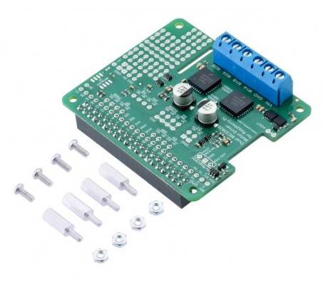 Dual MC33926 Motor Driver for Raspberry Pi (Assembled)