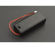 Battery Holder 2xAAA with Cover and Power Switch