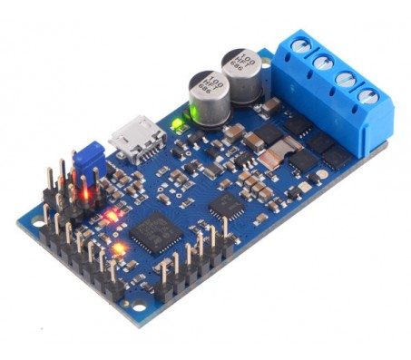 High-Power Simple Motor Controller G2 24v12 (Connectors Soldered)
