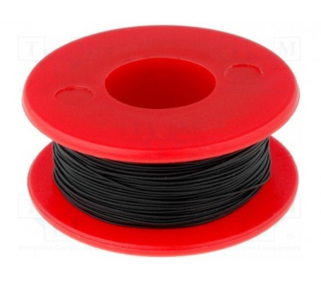 Wrapping Wire - AWG30 Solid Core - Black 50m