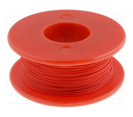 Wrapping Wire - AWG30 Solid Core - Red 50m