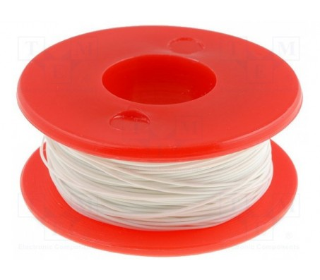 Wrapping Wire - AWG30 Solid Core - White 50m
