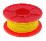 Wrapping Wire - AWG30 Solid Core - Yellow 50m