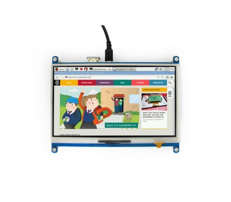 """7"""" HDMI LCD - 1024×600 IPS With Touch for Raspberry Pi"""