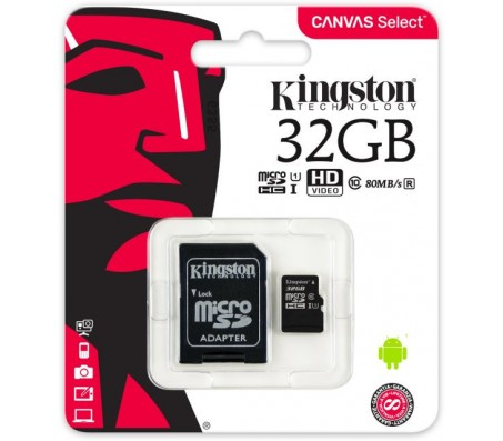 Kingston 32GB MicroSDHC UHS-I with Raspberry Pi OS