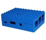 Pi-Blox Lego® Compatible Case for Raspberry Pi + Pi Camera - Blue