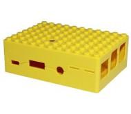 Pi-Blox Lego® Compatible Case for Raspberry Pi + Pi Camera - Yellow