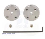 Universal Aluminum Mounting Hub for 3mm Shaft Pair