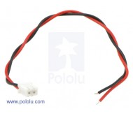 "2-Pin Female JST XH-Style Cable 6"" (15cm)"