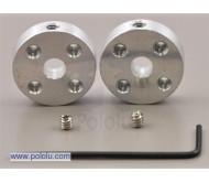 Universal Aluminum Mounting Hub for 5mm Shaft Pair