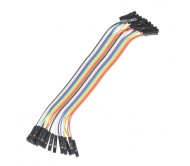 Jumper Wires - Connected 15cm (F/F, 20 pack)