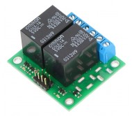 Basic 2-Channel SPDT Relay Carrier with 12VDC Relays (Assembled)