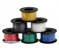 Stranded Wire: Yellow, 26 AWG, 70 Feet (21m)