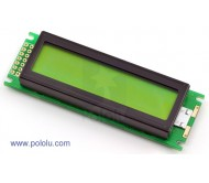 16x2 Character LCD with LED Backlight (Parallel Interface)