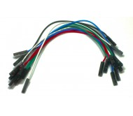"""1-Pin Dual-Female Jumper Wire - 9"""" (23 cm) - Pack of 10"""