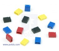 "0.100"" (2.54 mm) Shorting Block: Yellow, Top Closed (5-Pack)"