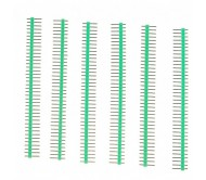 1 x 40 Pin Header - Straight (Green)