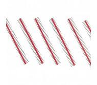 1 x 40 Pin Header - Straight (Red)