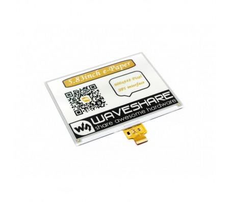 """5.83"""" E-Ink Raw Display 600x448 - Three Color Y/B/W"""