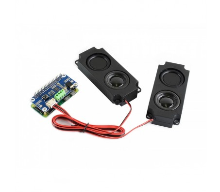 WM8960 Hi-Fi Sound Card HAT for Raspberry Pi - Stereo CODEC, Play/Record with Speakers