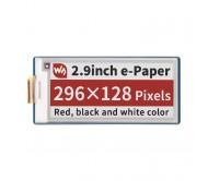 2.9inch E-Paper E-Ink Display Module (B) for Raspberry Pi Pico, 296×128, Red / Black / White, SPI
